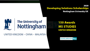 Nottingham Developing Solutions Masters Scholarship 2020