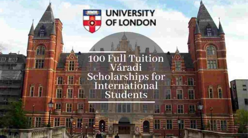 Varadi Distance Learning Scholarships at University of London
